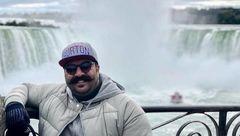 سلفی بهنام بانی با آبشار نیاگارا+عکس
