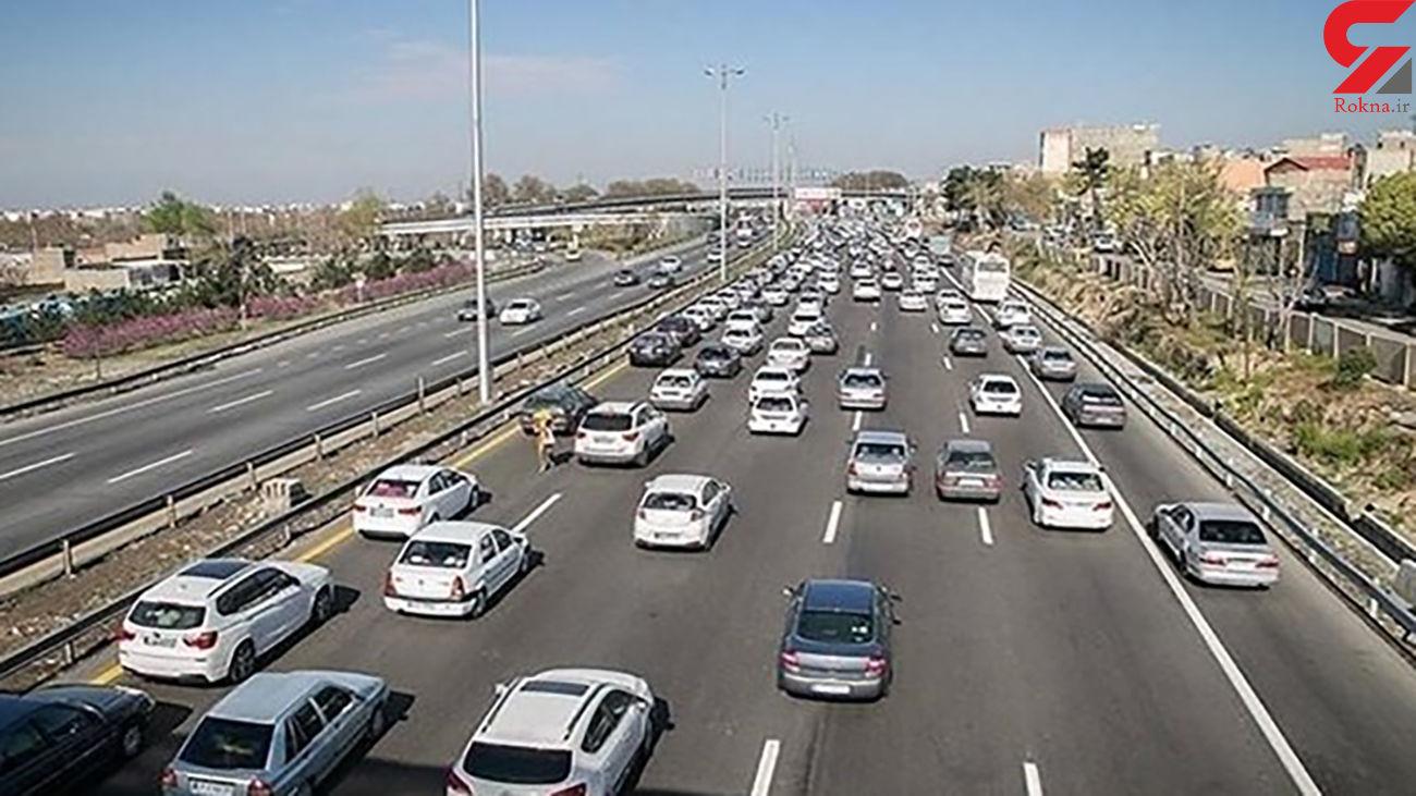 محدودیت تردد کامیون در محورهای هراز و کندوان/ ترافیک سنگین در جاده فشم- تهران