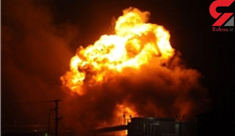 لحظه انفجار عجیب یک پمپ بنزین + فیلم  عربستان