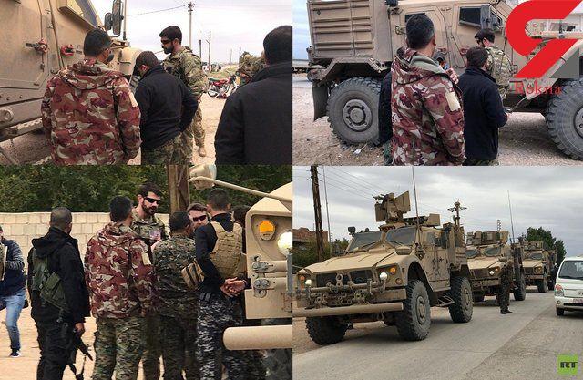 گشتیهای نظامی آمریکا در مرزهای ترکیه و سوریه در شرق فرات