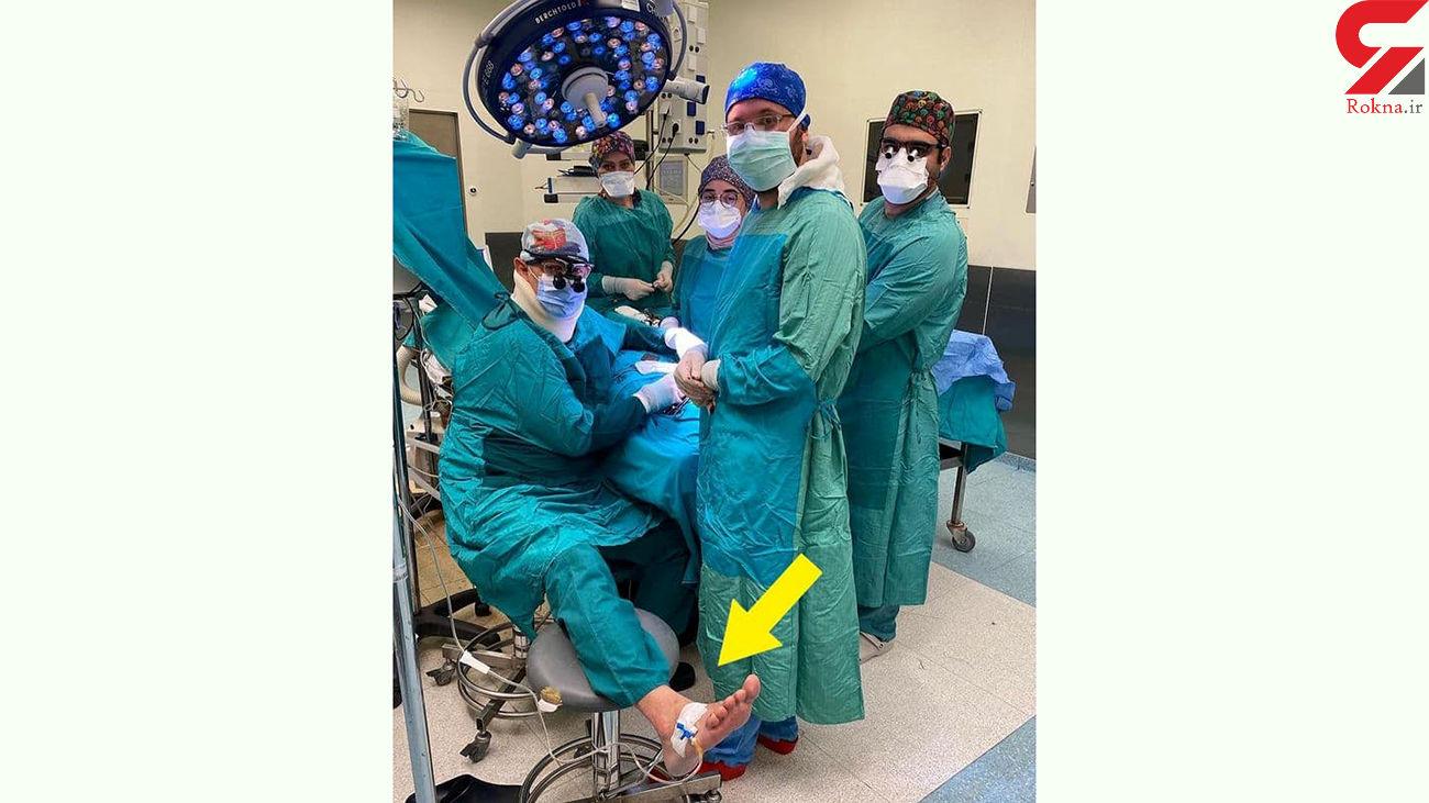 عکسی از فداکاری یک پزشک در اتاق عمل