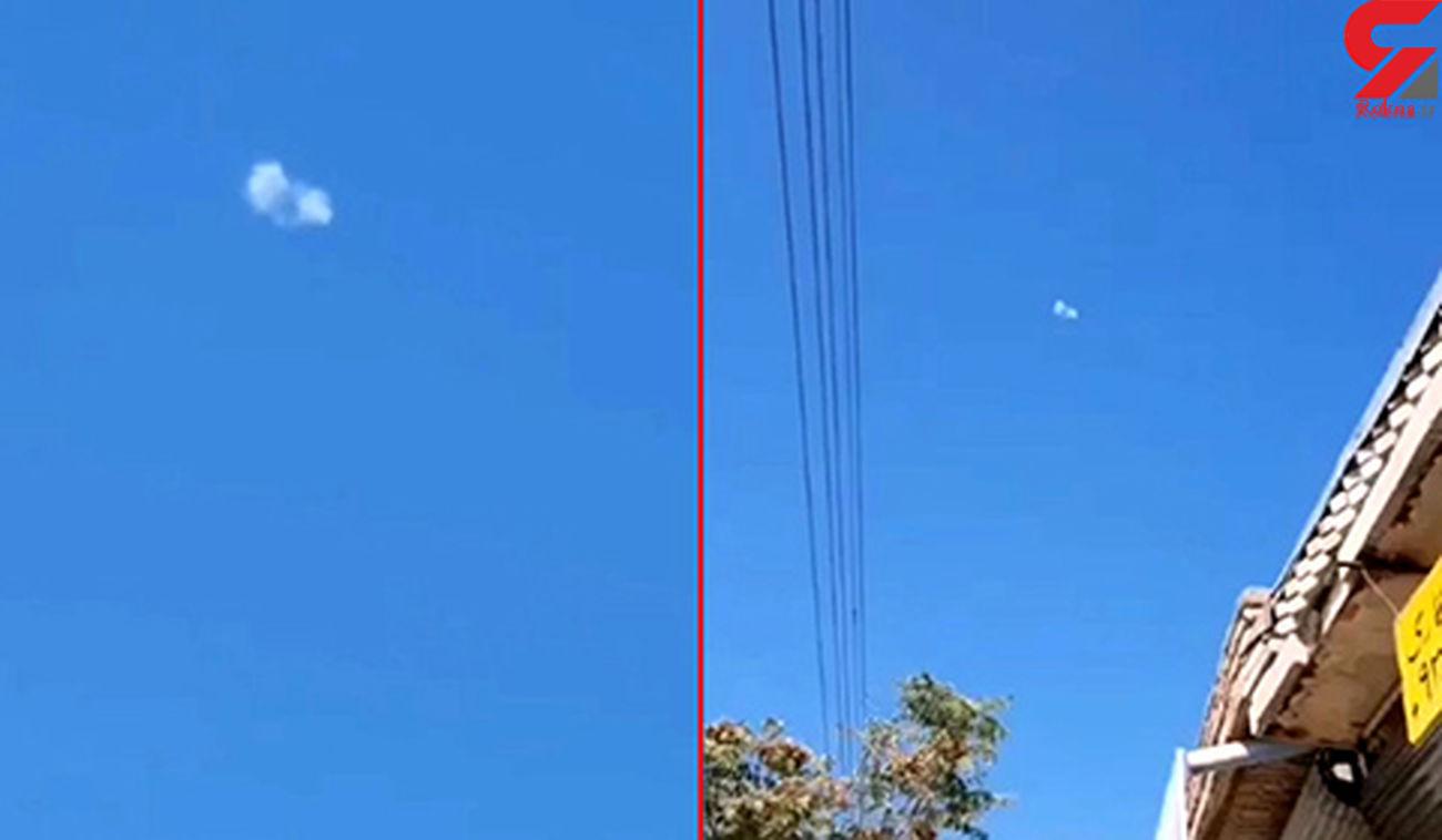 سرنگونی یک فروند پهپاد ناشناس توسط پدافند هوایی ایران + فیلم