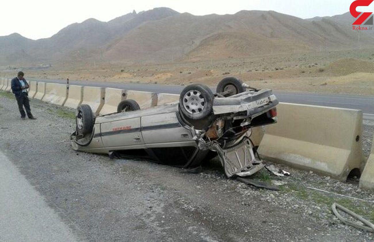 واژگونی مرگبار پژو با یک کشته و 5 زخمی در کردستان