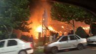 آتش سوزی در پایین گردنه لواسان به دلیل بی احتیاطی مسافران