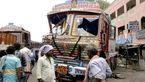 تصادف مرگبار یک کامیون با دکل برق + فیلم و تصاویر