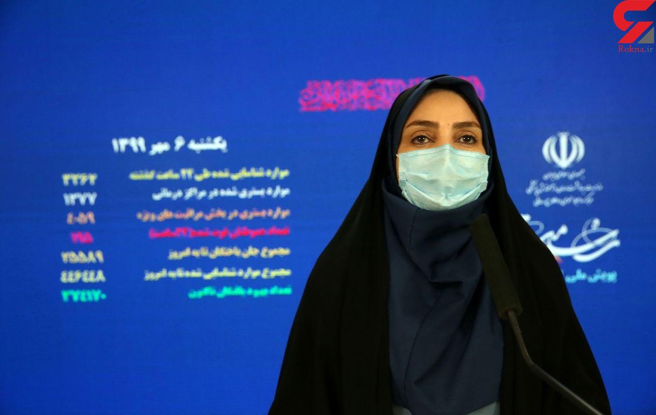 فوت ۱۹۵ مبتلا به کرونا در 24 ساعت گذشته در ایران / ۳۰ استان در وضعیت قرمز و هشدار