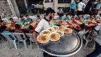 سفره رنگین رمضان برای کودکان گرسنه و بی خانمان های جنگ زده +تصاویر