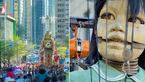 عروسک های غول پیکر در شهر + فیلم