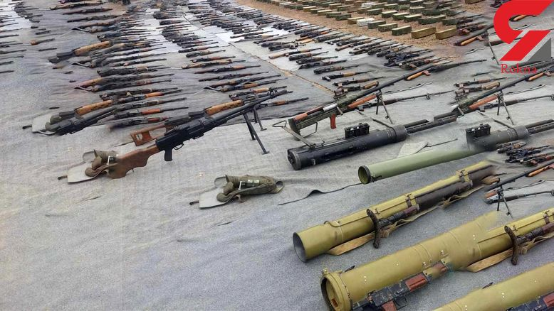 کشف سلاح و داروهای ساخت اسرائیل در حومه دمشق +عکس