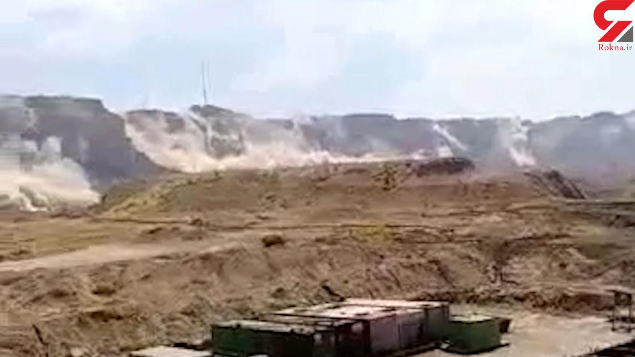 فیلم ریزش کوه در زلزله بوشهر