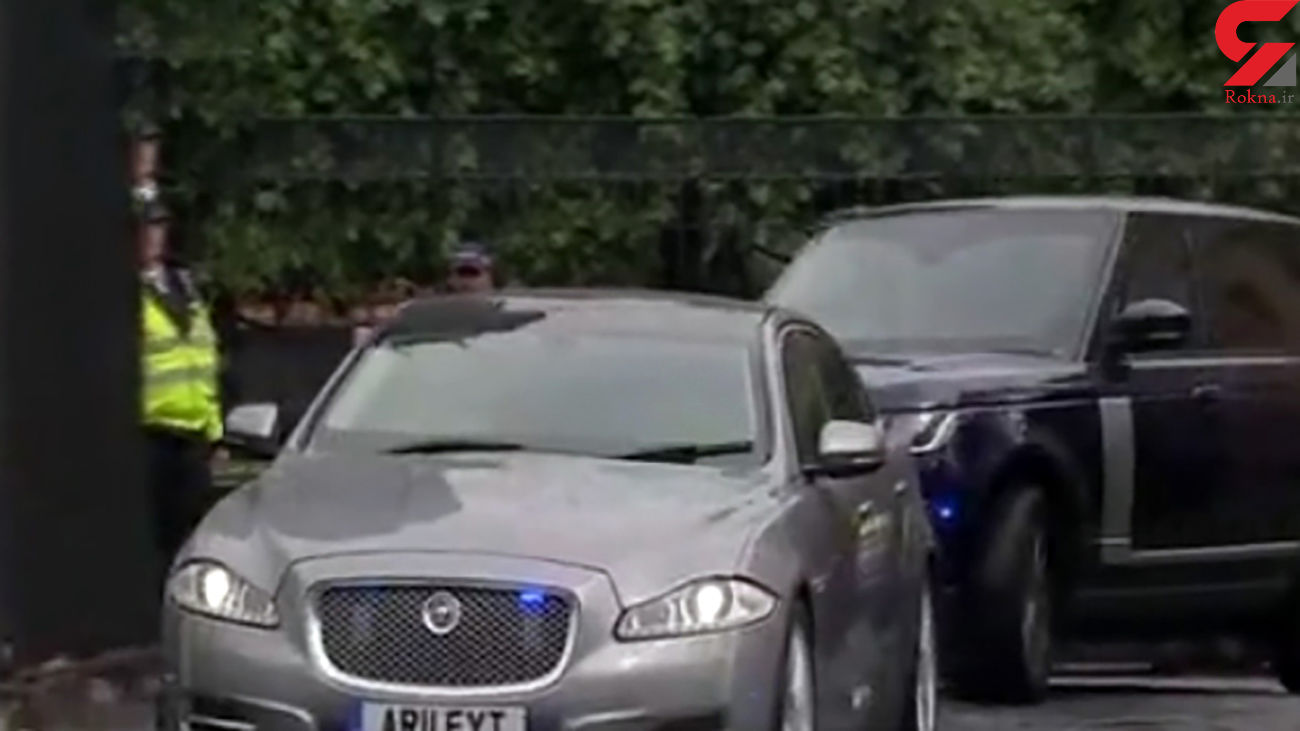 اتفاقی عجیب برای خودروی حامل نخست وزیر انگلیس + فیلم