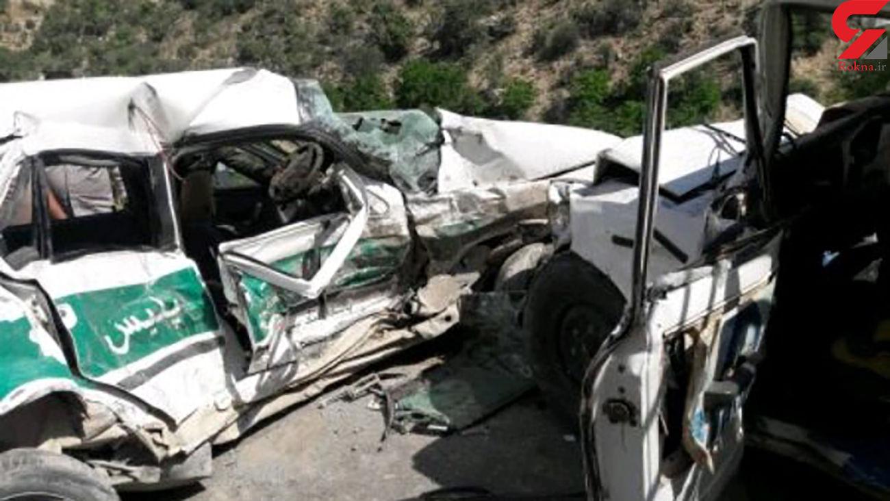 تصادف سمند با خودروی پلیس / 4 زخمی در کازرون