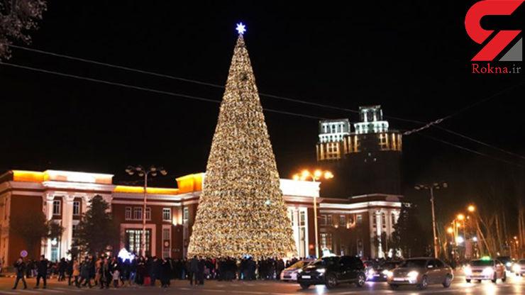 بلندترین درخت کریسمس در تاریخ تاجیکستان
