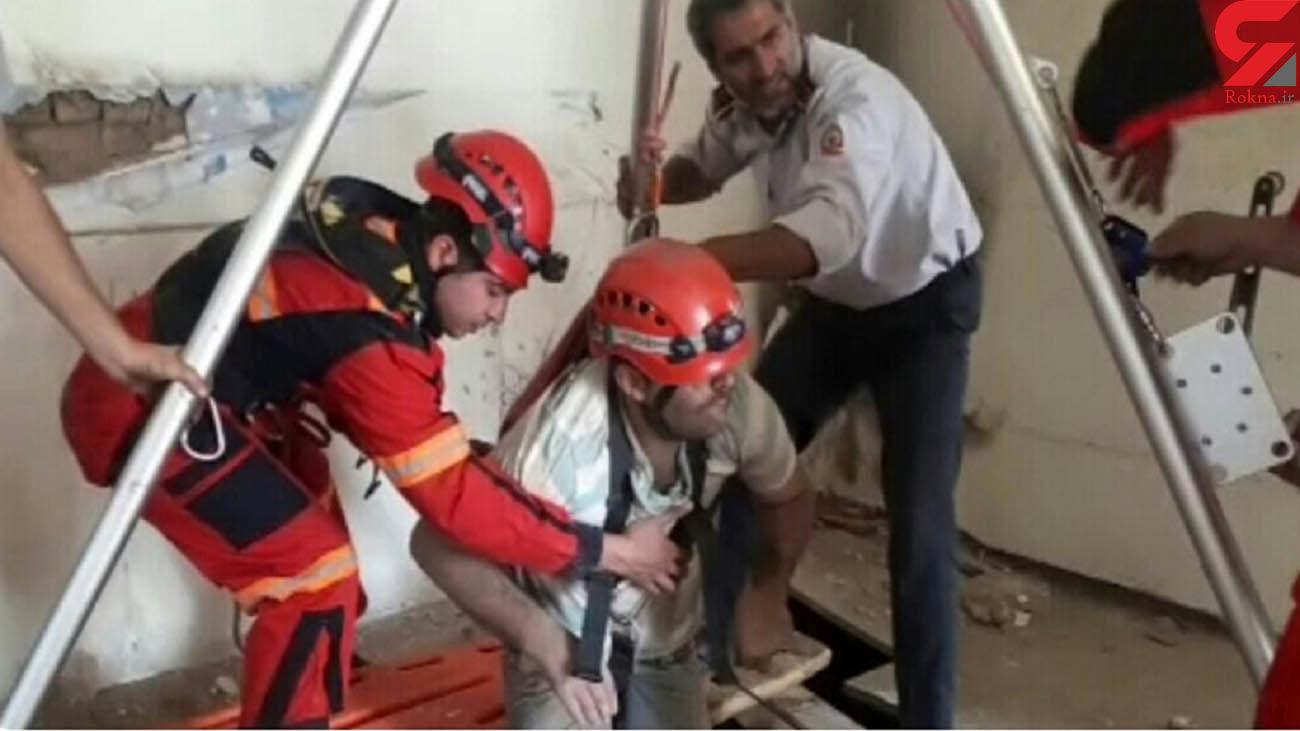 سقوط شهروند قزوینی در چاه