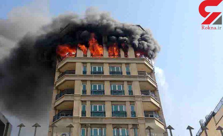 اولین تصاویر آتش سوزی هولناک در برج جردن + فیلم
