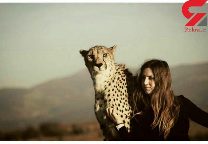 همسفر این خانم یک یوزپلنگ است! + تصاویر
