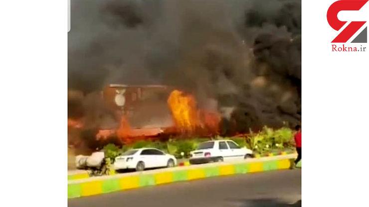 عکس / آتش سوزی رستوران معروف ماهشهر را خاکستر کرد / عصر دیروز رخ داد+فیلم