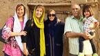 سلفی تاریخی بازیگر زن معروف ایرانی در کنار خانواده اش +عکس