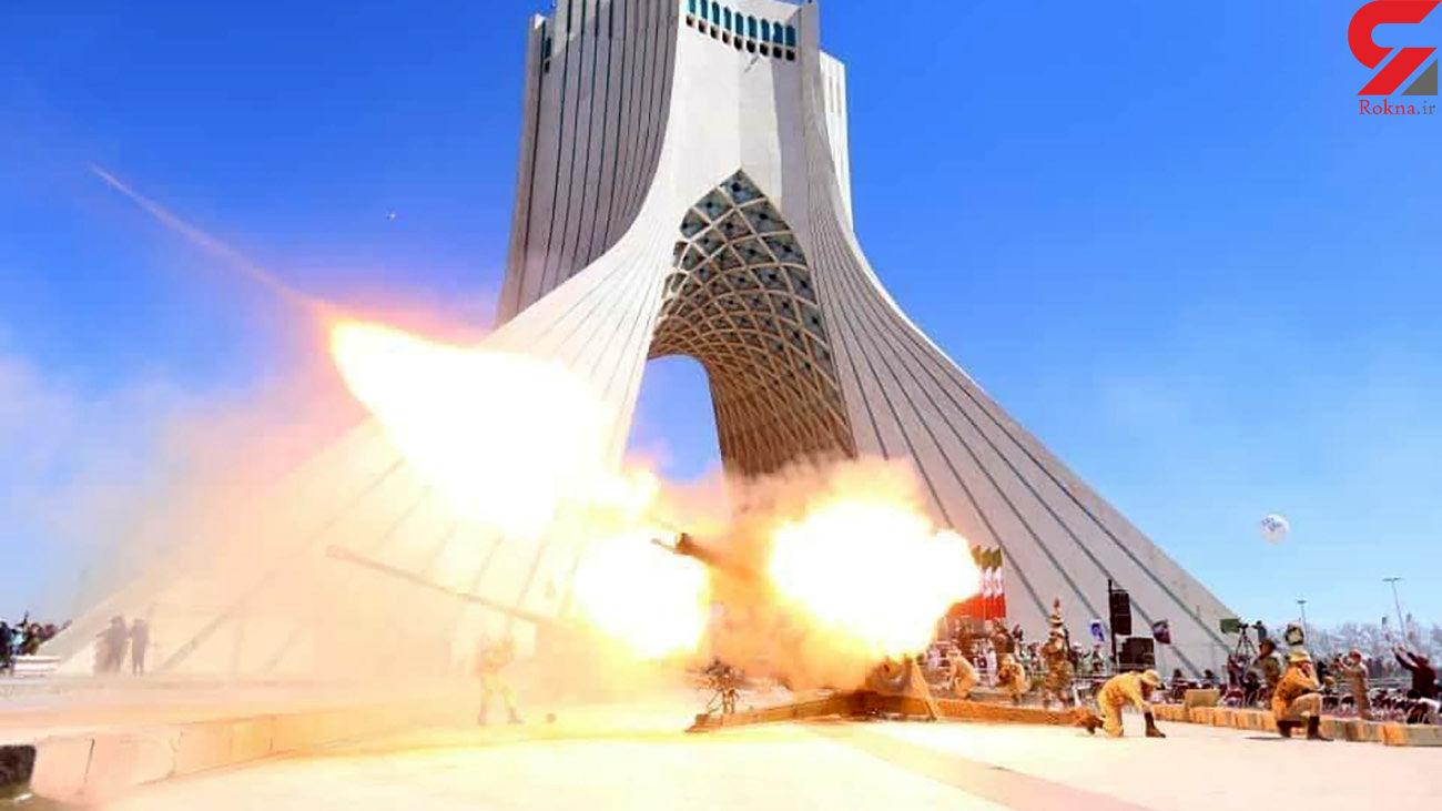 عکس / شلیک توپ در میدان آزادی هنگام آغاز سال 1400