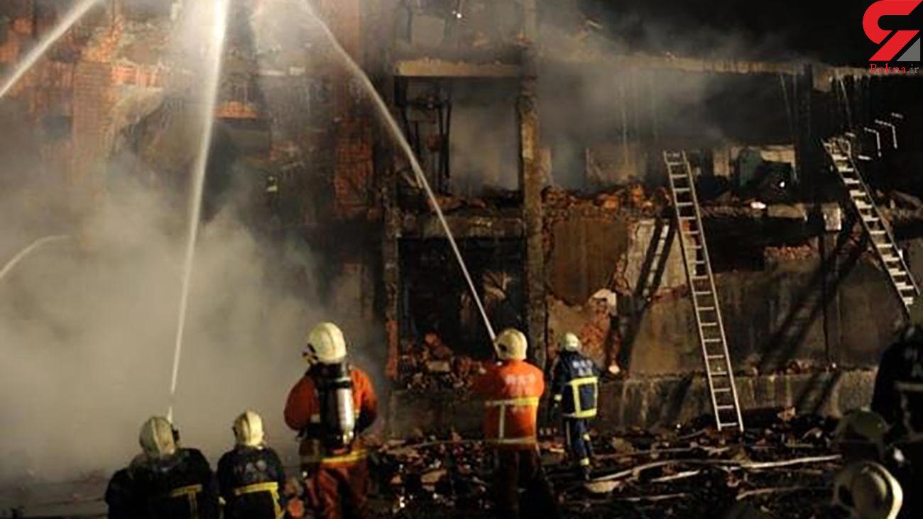 آتش سوزی در یک برج مسکونی در جنوب تایوان