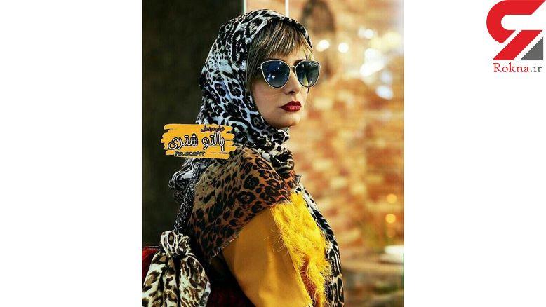 عکس جذاب بازیگر زن ایرانی در پالتوی شتری