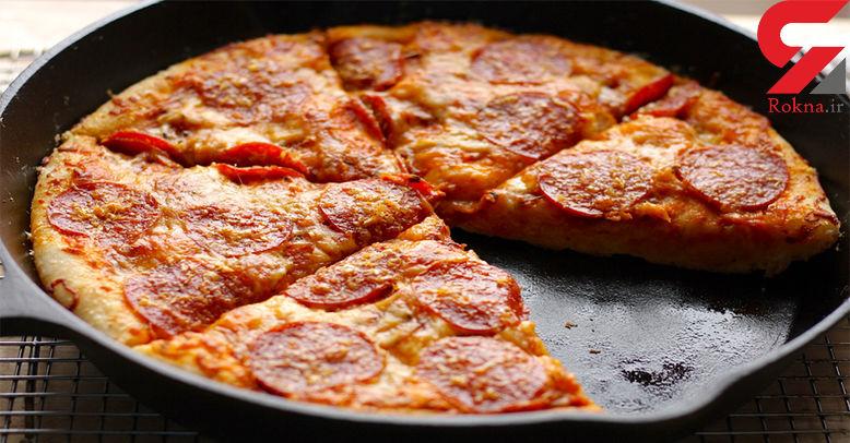 چگونه بدون فر پیتزای خانگی بپزیم؟+دستور تهیه