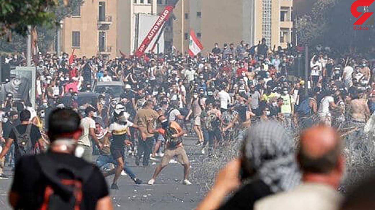 معترضان لبنانی به خانه وزیر اقتصاد و بانک مرکزی حمله کردند