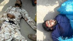 اولین عکس از جسد 2 تروریست در حمله تروریستی اهواز