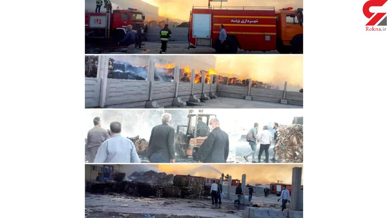 آتش سوزی انبار شرکت تولید کاغذ در زرندیه