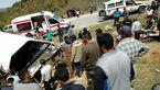 مینی بوس دانشجویان دامغان چپ کرد / یک دانشجو کشته و 7 نفر مجروح شدند+ عکس