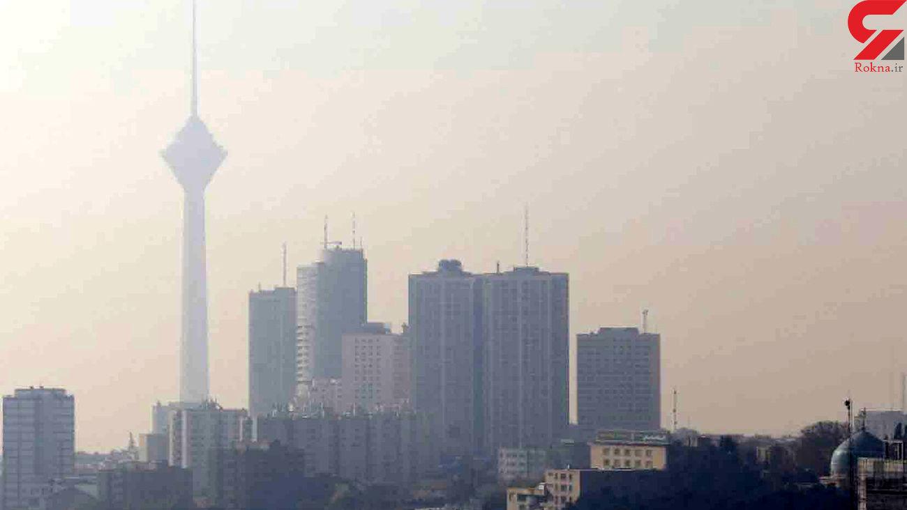 هوای آلوده پایتخت در نهمین روز دی ماه