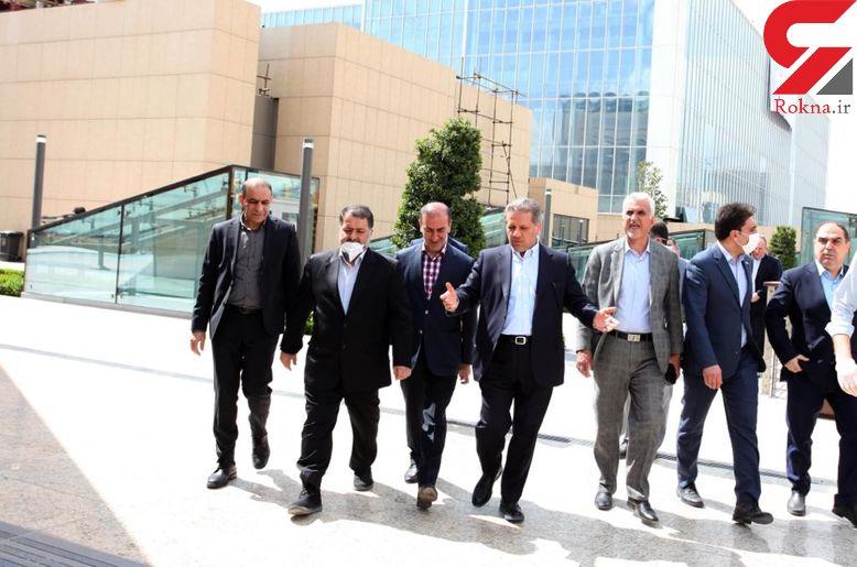 بازدید اعضای شورای شهر از بیمارستان موقت ایران مال برای بیماران کرونایی