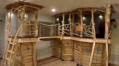 پیادهای سازی طرحی مشابه کلبه جنگلی در خانه مدرن ! + فیلم