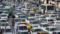 ترافیک صبحگاهی معابر تهران در صبح دوشنبه