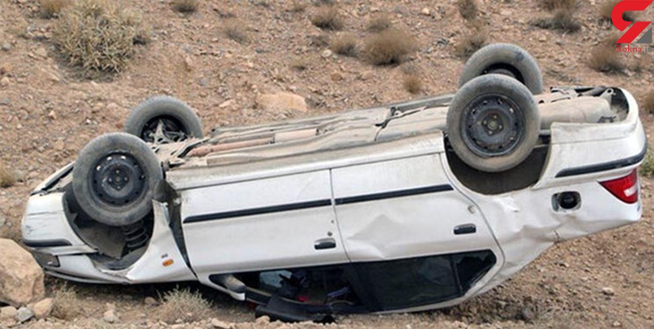 واژگونی مرگبار پژو پارس با 3 کشته در قشم