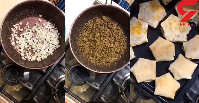 دستور تهیه پیراشکی خانگی/غذای فوری و 10دقیقه ای