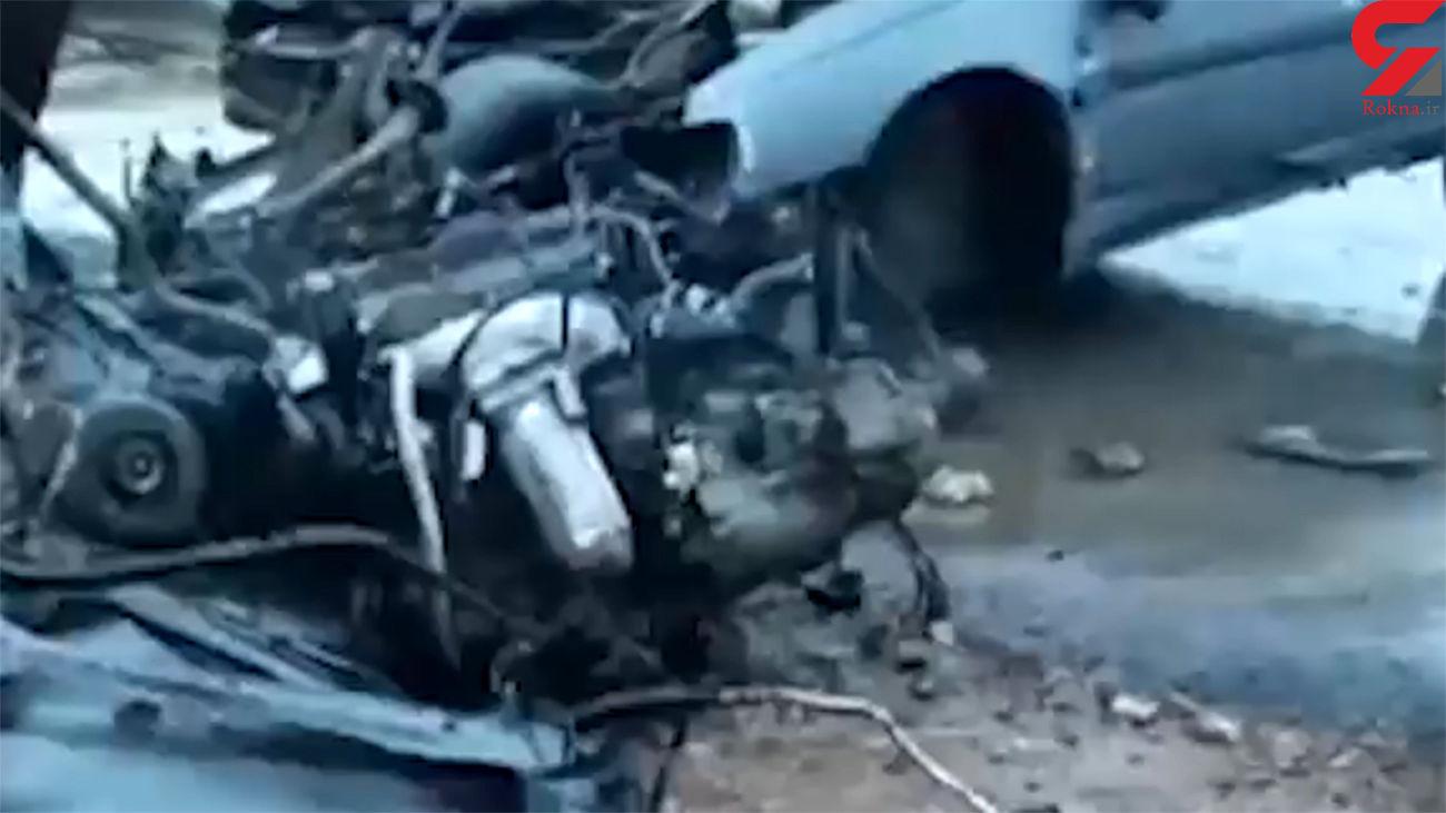 فیلم لحظه تصادف مرگبار در  در محور روانسر-کرمانشاه
