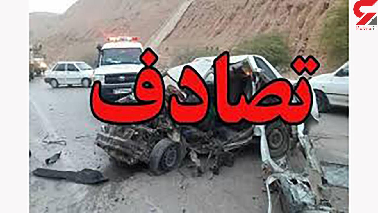 یک کشته و 7 مصدوم در تصادف زنجیرهای / در اصفهان رخ داد