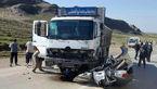 2 برادر جوان با پراید زنده زنده زیر چرخ های کامیون بنز رفتند