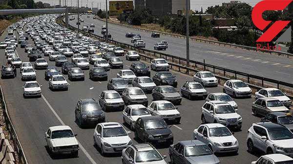 ترافیک نیمهسنگین در آزادراه کرج به قزوین