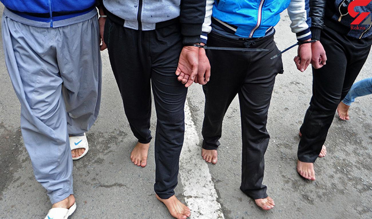 فیلمی که وحشت می فروشد / بازداشت 7 مرد با مهمات مدرن جنگی در فریدونکنار + عکس