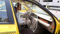 عکس های جالب از جداسازی کرونایی راننده تاکسی ها از مسافران در تهران