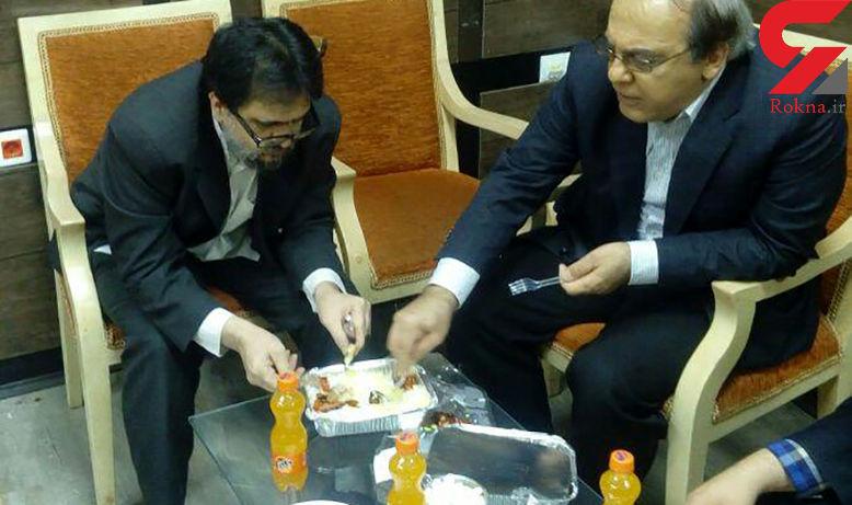 شام خوردن دو چهره مخالف سیاسی ایران در یک ظرف! +عکس