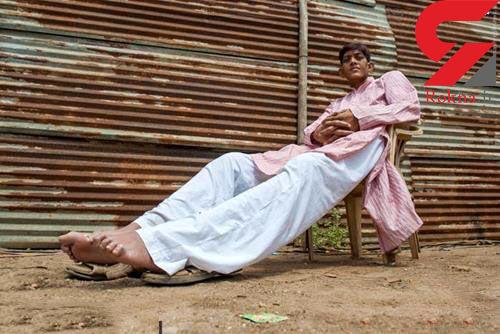 هیچ دختری با این پسر 3 متری ازدواج نمی کند +تصاویر