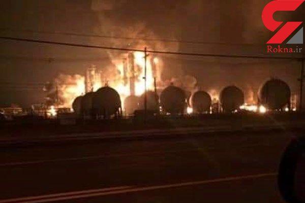 انفجار مهیب در کارخانه مواد شیمیایی