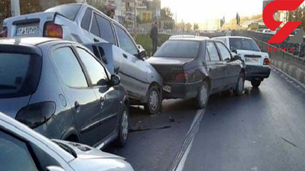 تصادف زنجیره ای در شمیرانات / تصادف 4 خودرو با 4 مصدوم