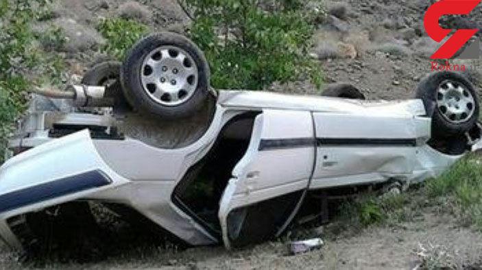 """واژگونی پژو پارس با یک کشته و 2 مجروح در""""کازرون"""""""