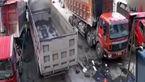 کامیون بدون راننده مردی را له کرد + فیلم