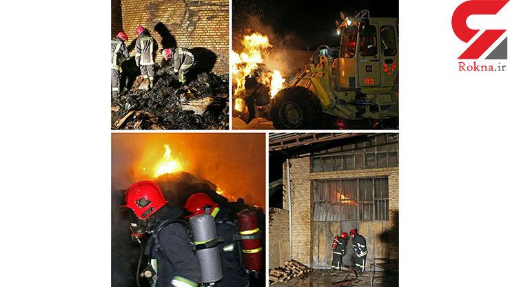 عکس های تکاندهنده از یک آتش سوزی در مشهد / همه چیز خاکستر شد