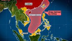 پرواز بمبافکن آمریکا بر فراز جزایر چین